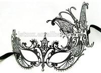 Laser Cut Metal Masks venetian mask decorative With rhinestone