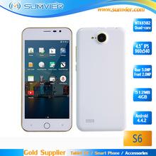 Original 4.5 Inch ips screen s6 smartphone mtk6582 Quad core cell phone