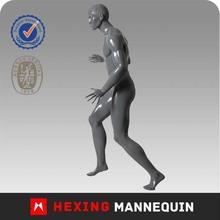 Gray standing style fiberglass basketball mannequine