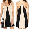 2015 newest straps color models summer dresses of chiffon