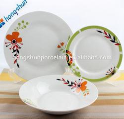 18pcs white dinner set / light weight dinner set