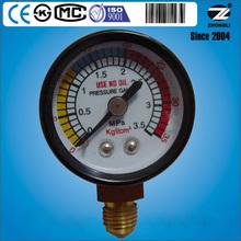 (Y-40)40mm bottom brass standard thread dial tire pressure gauge