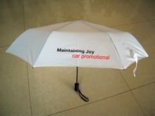 car promotional auto open and cloe epoxy sticker 3 fold umbrella