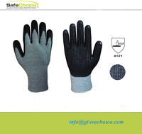Foam nitrile coated and nitrile dots on palm working glove manufacturer