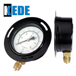 industrial bourdon tube with front flange manometer