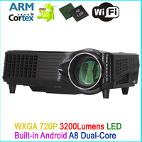 office supply android 4.0 led projector with wifi/overhead projector led 3000lumens android full hd wifi