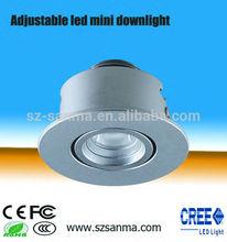 Mini Adjustable LED Downlight 1W/CREE/ Precise beam angle