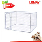 7.5x7.5x6ft China factory of large outdoor galvanized pet dog cages