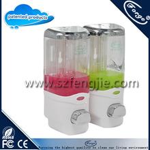 Wall mounted liquid manual soap dispenser bathroom