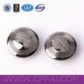 color plateado de metal de encargo de botones de presión para la chaqueta