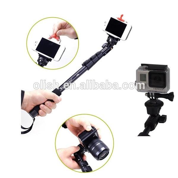 yunteng c 188 extendable aluminum selfie monopod stick for mobile phone digital cameras gopro. Black Bedroom Furniture Sets. Home Design Ideas