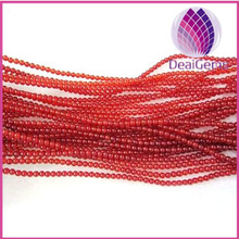 New products in the market 2mm round bead red agates