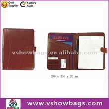 A4 business leather 2 pocket portfolio