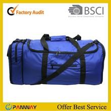 New design blue foldable travel bag for man