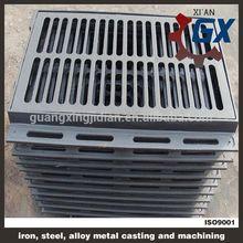 Rectangular decorative steel grating door mat