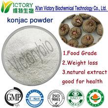 Iso certificated konjac glucomannan nutritional supplement