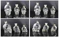 350 ml 160 ml 100 ml diferentes tamaños de cráneo botella de vidrio para vino con corcho elegante botella de vidrio botella cristal de cristal para vodka