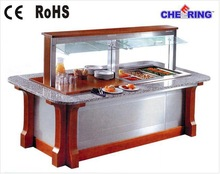 A1GBMRF20 high quality commercial marble salad bar buffet counter for Hotel and restaurant with CE