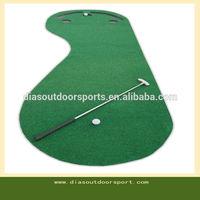 Par 3 Holes Practice Putting Green Golf Mat Indoor Training Aid Equipment