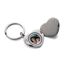 Omantic Love Heart Magnet Photo Frame Keyring Keychain Car Key Chain Ring Key Fob