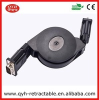 High speed Reel Retractable VGA To VGA 15Pin Ethernet Cable 100cm For Computer