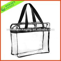 China clear PVC bag/plastic clear pvc zipper tote bags/PVC tote bag
