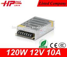 CE RoHS constant voltage single output ac dc power supply 10A 120W 12V 9ch CCTV power supply 9CH power supply 10A 12v