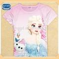 ( k5245y) roxo 2-8y nova fábrica de roupas congeladas barato t-shirt para meninas