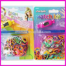 Cheap fashion crazy passing EN71-3 test watch loom bands wholesale