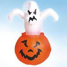 halloween 7ft inflatable halloween pumpkin and ghost
