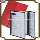 2014 DGI provided cafe transparent plastic menu cover / menu holder