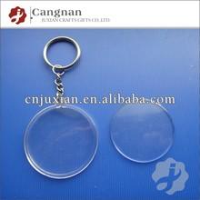 promotion round clear acrylic keychain