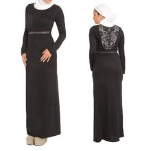 wholesale OEM china supplier black long design arabic kaftan muslim women dress