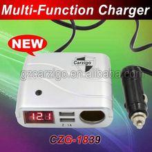 12v dual usb 2012 angle car charger plug