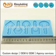 Cartoon 3D Key Silicone Mold for fondant dessert decorating