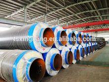 flexible superheated pu foam and calcium silicate watts heat resistance steel jacket steam pipe insulation