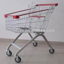 60 liters zinc plated supermarket shopping cart MJY-60B2