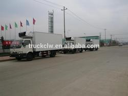dongfeng 4x2 5 ton van refrigeration system, insulated room van , cooling van truck
