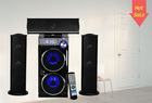 HOT!! high quality dual-bass big sound 3.1 subwoofer system