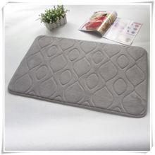 Washable coral fleece memory foam bath mat , bath rug , bath carpet/Memory foam bath mat_ Qinyi