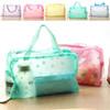korean fashionable transparent PVC cosmetic bag, wash bag