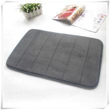 Flannel padded fancy memory foam decorative door mats/Memory foam bath mat_ Qinyi