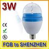 Cheapest 3w e27 led bulb light led full color rotating lamp christmas bulbs