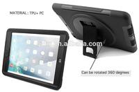 Shockproof rotating stand TPU hybrid case for iPad Air iPad 5