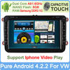 "Hot selling Car DVD GPS Navi with 8"" In-dash 1.6G CPU Pure Android 4.2 system for GOLF 6 new polo New Bora JETTA MK4 B6 etc."