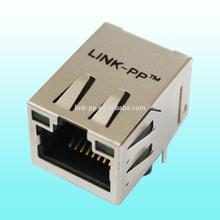 1000Base-T through hole Tab up single port rj45+ USB modular jack rj45 connectorHR981121C