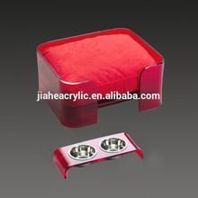Factory custom acrylic luxury pet dog bed wholesale
