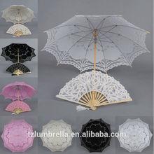 DIY High Quality Outdoor Wedding Umbrella,Sun Lace Umbrella Wood Material