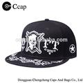 de alta calidad snapback hat cap con el cráneo bordado de imagen