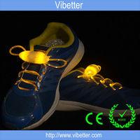 2014 New Product LED Optical Fiber Flashing Up Rope Shoelaces, Glowing Light LED Shoelaces Glow Dark Shoelaces Wholesale